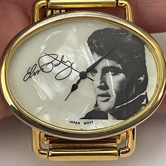 Rare Elvis Presley Mother Of Pearl Watch